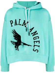 Palm Angels College Eagle Hoodie Blue