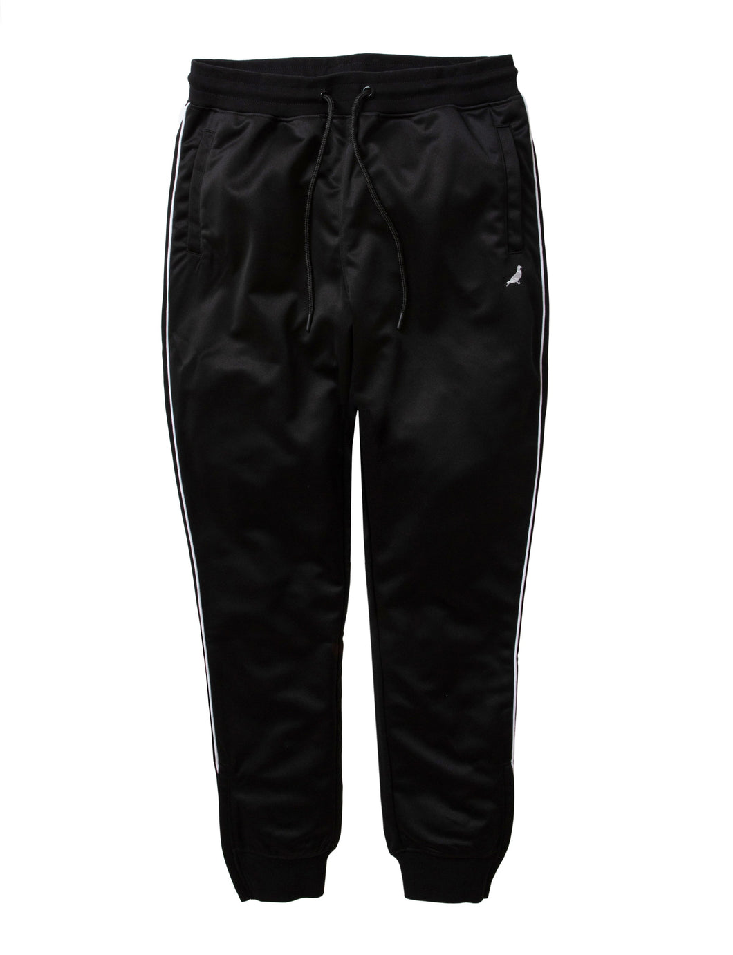 Staple Piped Poly Track Pants Black