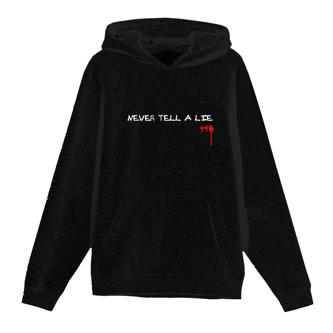 Juice Wrld Never Tell A Lie Hoodie Black