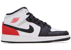 Jordan 1 Mid SE White Black Red Spruce (GS)