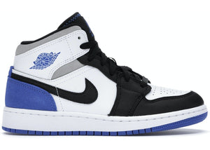 Jordan 1 Mid SE White Black Royal (GS)