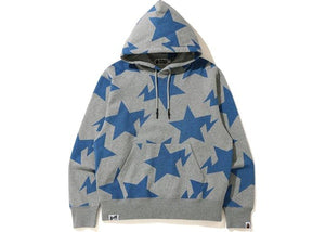 BAPE Relaxed STA Pattern Pullover Hoodie Gray