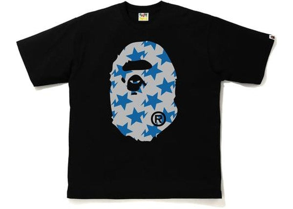 BAPE STA Pattern Big Ape Head Relaxed Tee Black/Gray