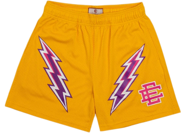 Eric Emanuel EE Basic Lightning Bolt Short Yellow/Purple/Pink