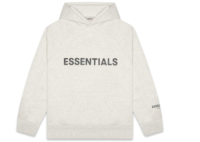 FEAR OF GOD ESSENTIALS Pullover Hoodie Applique Logo Oatmeal/Oatmeal Heather/Light Heather Oatmeal