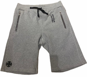 Chrome Hearts Sweat Shorts Pocket Zip Grey