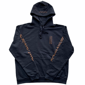 Chrome Hearts CH Logo Pullover Hoodie Black/Brown