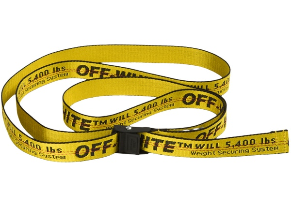 OFF-WHITE Mini Industrial Belt (SS19) Yellow/Black
