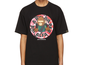 AAPE by A Bathing Ape We Are Aaper Alfa T-Shirt Black