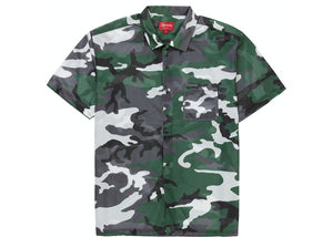 Supreme Camo Mesh S/S Shirt Green