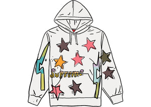 Supreme Gonz Stars Hooded Sweatshirt White