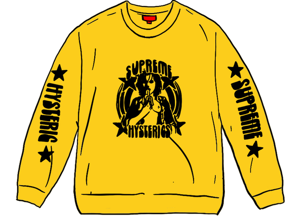Supreme HYSTERIC GLAMOUR L/S Tee Yellow