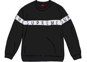 Supreme Inside Out Logo Sweater Black