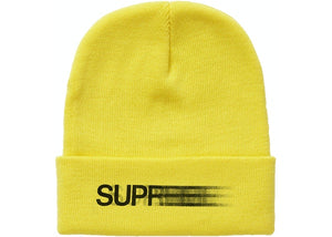 Supreme Motion Logo Beanie Yellow