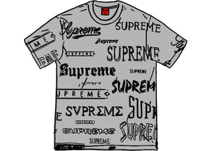 Supreme Multi Logo Tee Heather Grey