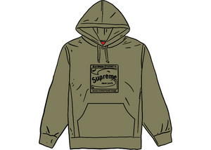 Supreme Shine Hooded Sweatshirt Light Olive