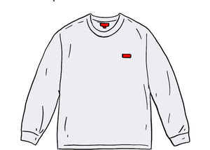 Supreme Small Box L/S Tee White