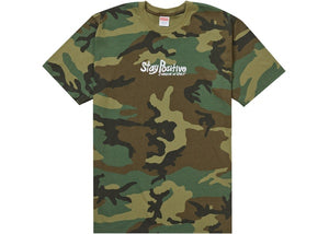 Supreme Stay Positive Tee Woodland Camo