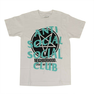 Anti Social Social Club x Neighborhood Filth Fury Tee White