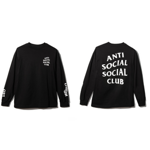 Anti Social Social Club Get Weird L/S Black