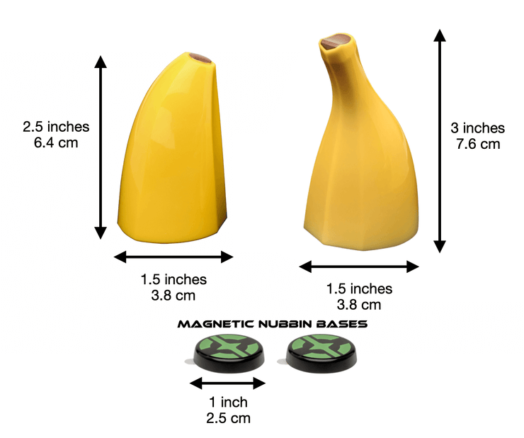 Banana for helmet with measurements