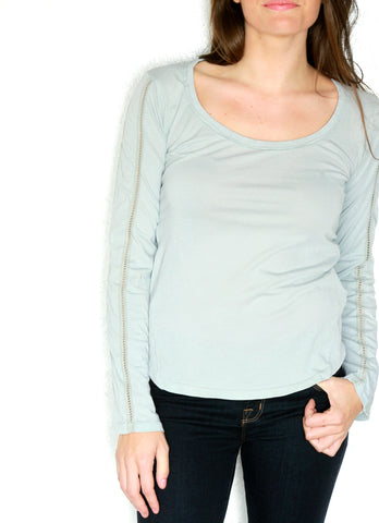 Women's Long Sleeve Scoop Neck T Shirt