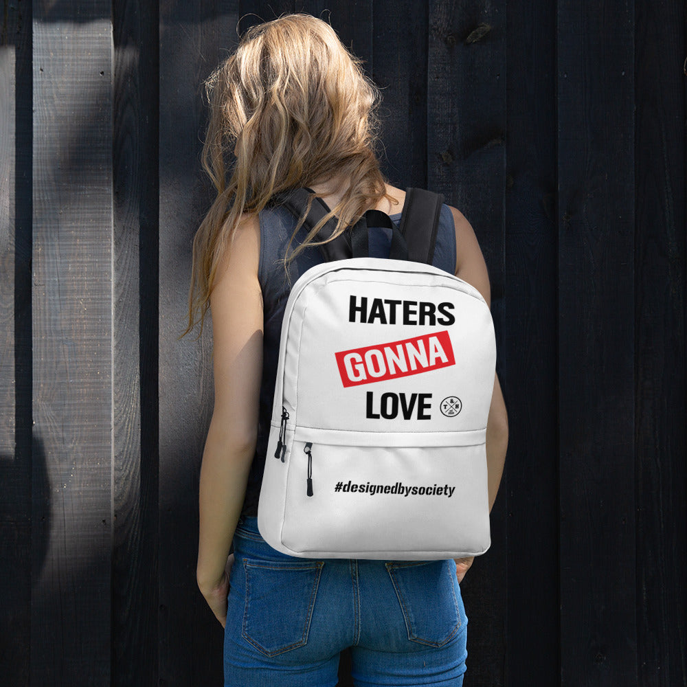 Haters Gonna Love White Premium Backpack