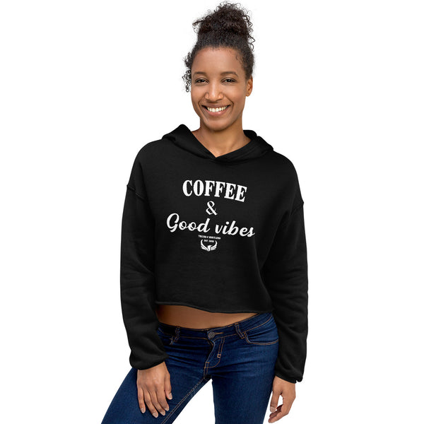 Coffee & Good Vibes Crop Hoodie