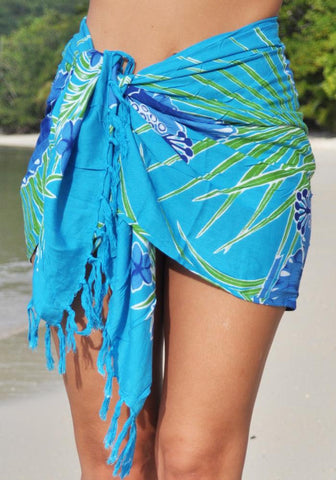 Black Shell Chiffon Triangle Sarong