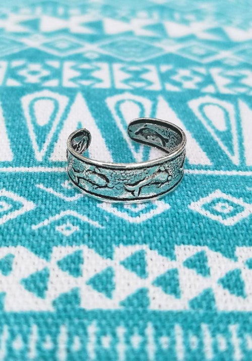 Dolphin Sterling Silver Toe Ring