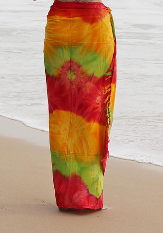Orange Sheer Full Sarong