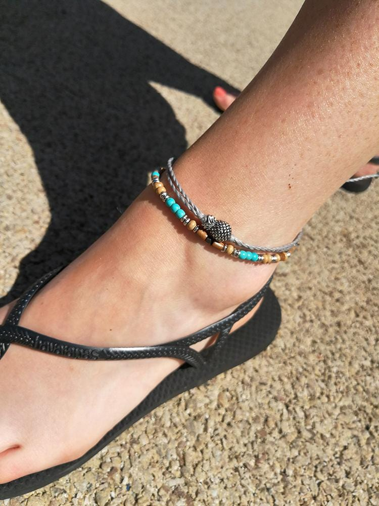Pineapple Wax Cord Anklet