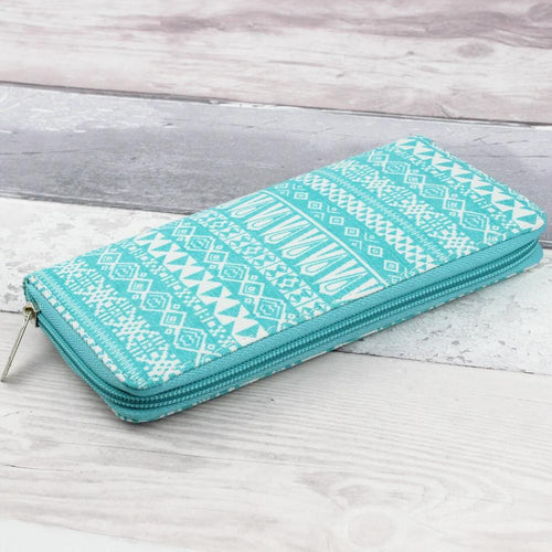 Mint Aztec Print Purse