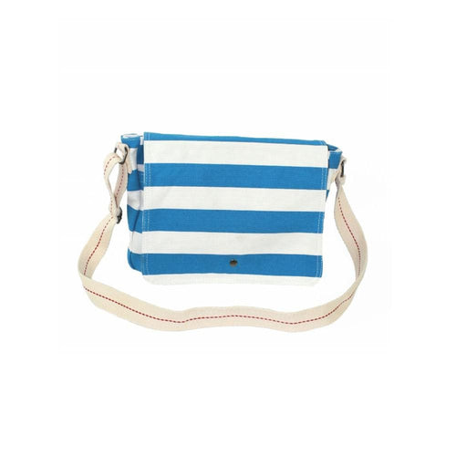 Blue Stripe Messenger Bag