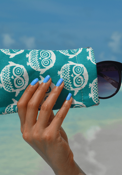 Owl Snap Sunglasses Case
