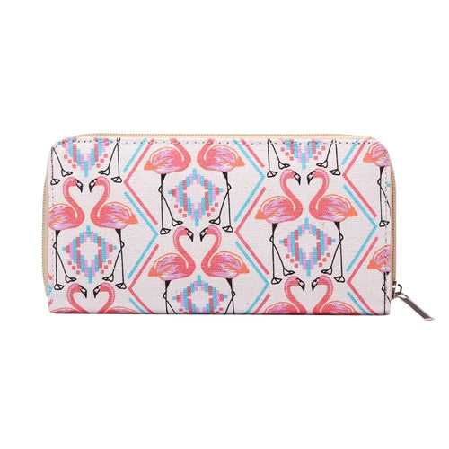 Flamingo Print Purse