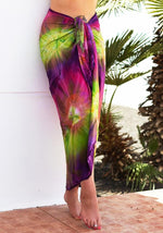 Purple-green-pink-tie-dye-batik-full-length-sarong-pareo-hula-beach