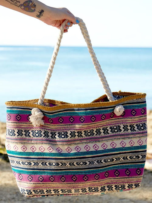 India Rope Beach Bag Set