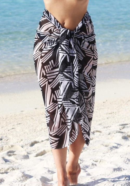 Monochrome Geometric Full Sarong