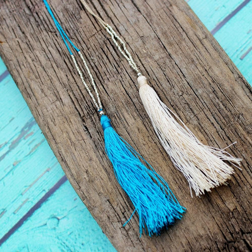 seed-bead-tassel-necklace-blue-or-cream