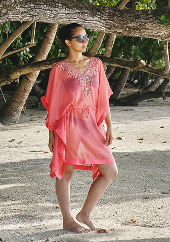 Cheyenne Coral Cover Up