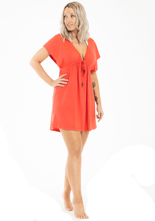 Playa Beach Dress Coral