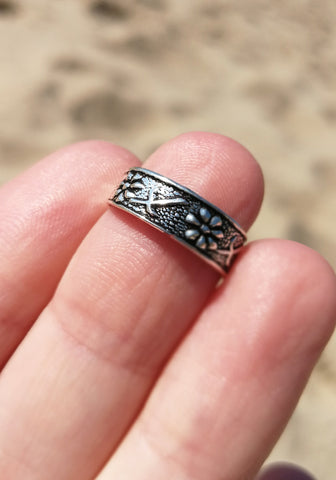 Lizard Sterling Silver Toe Ring