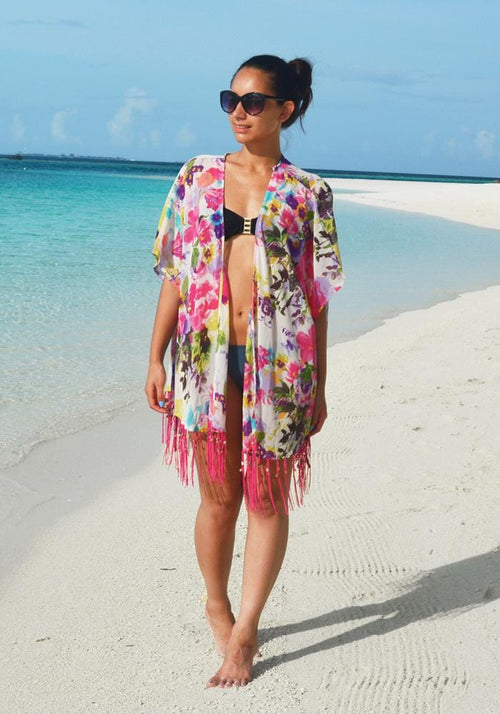 Malibu Shell Fringe Cover Up