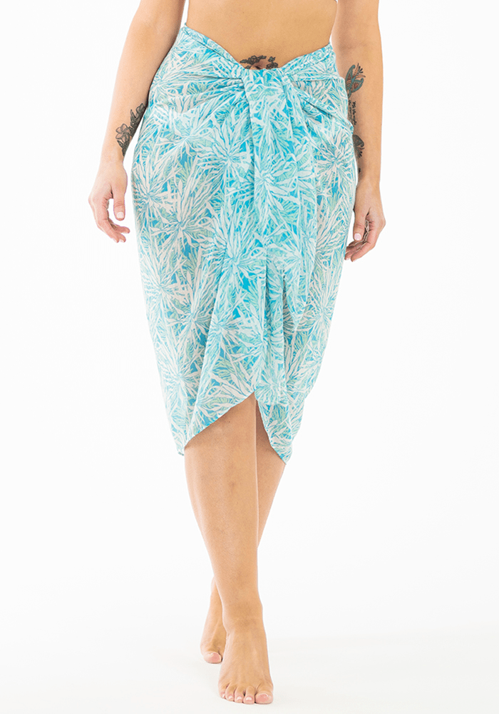 mint-green-white-flower-sarong-hula-beach