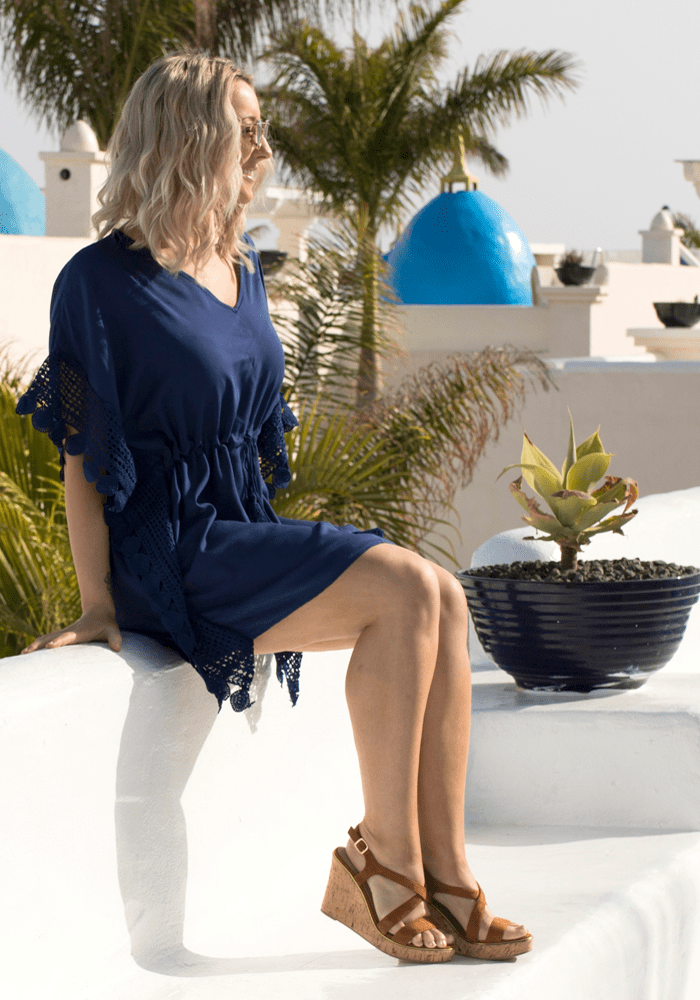 navy blue beach dress kaftan hula beach
