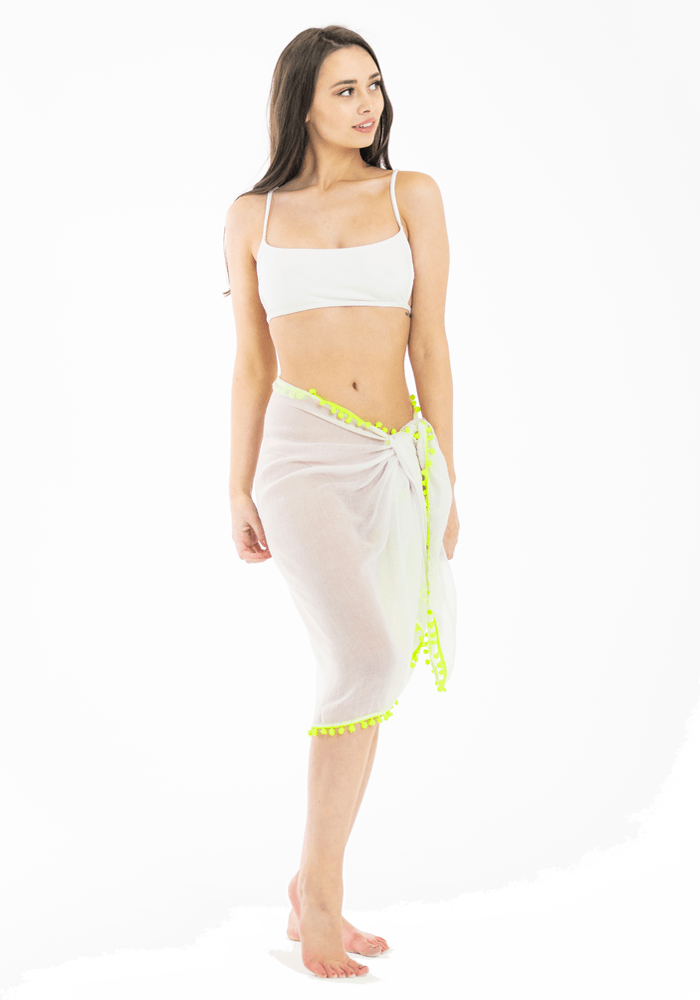 knee-length-white-sarong-neon-bobble-trim-hula-beach
