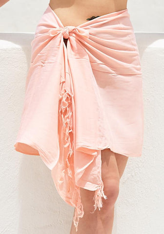 Orange Chiffon Half Sarong