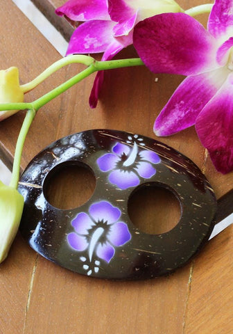 Coconut Shell Flower Tie