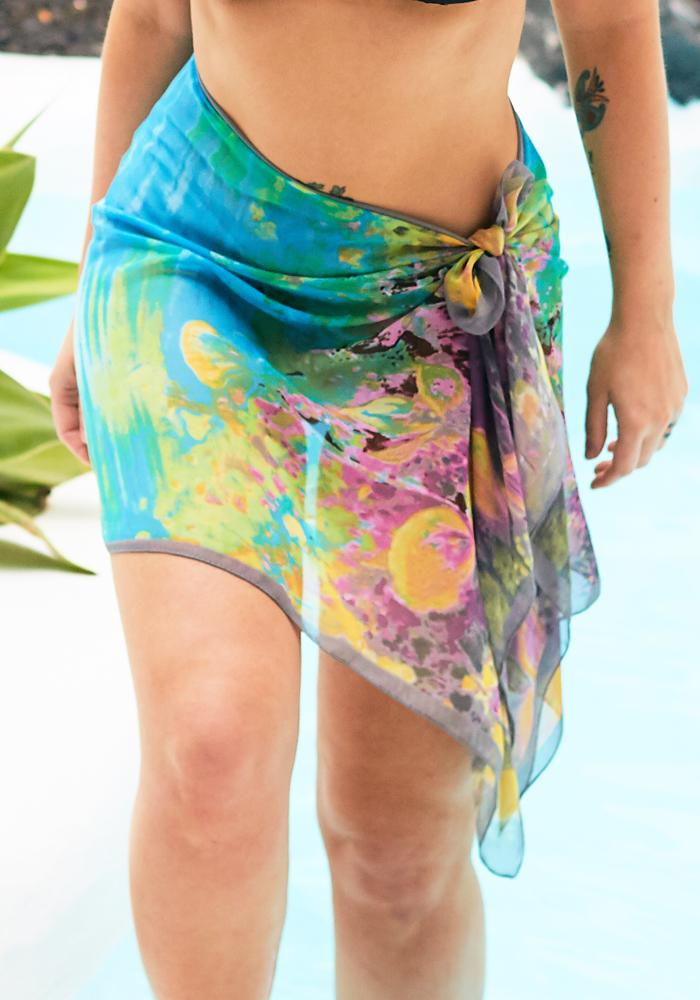 Watercolour Chiffon Half Sarong